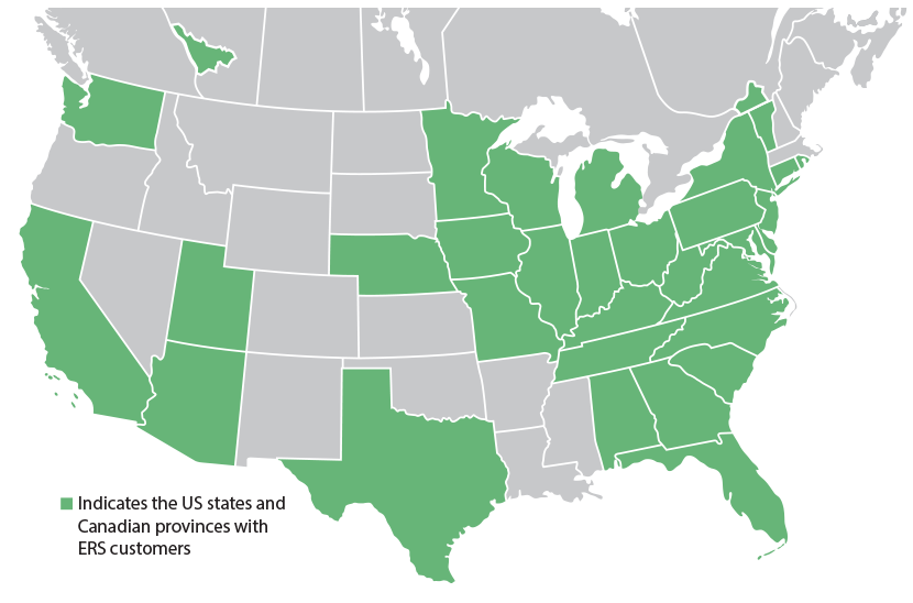 Ers Serves Clients Throughout The Us And Canada